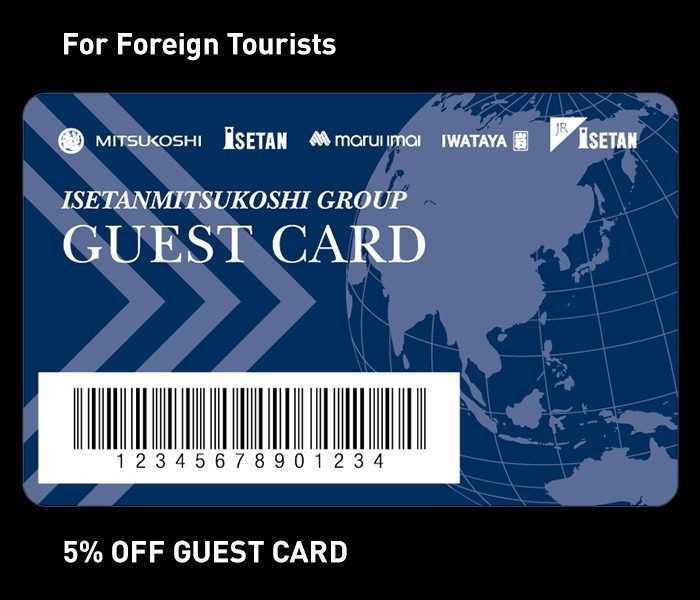 For Foreign Tourists 5% OFF GUEST CARD